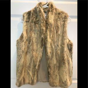 BCBG Generation Fur Vest. Size XS